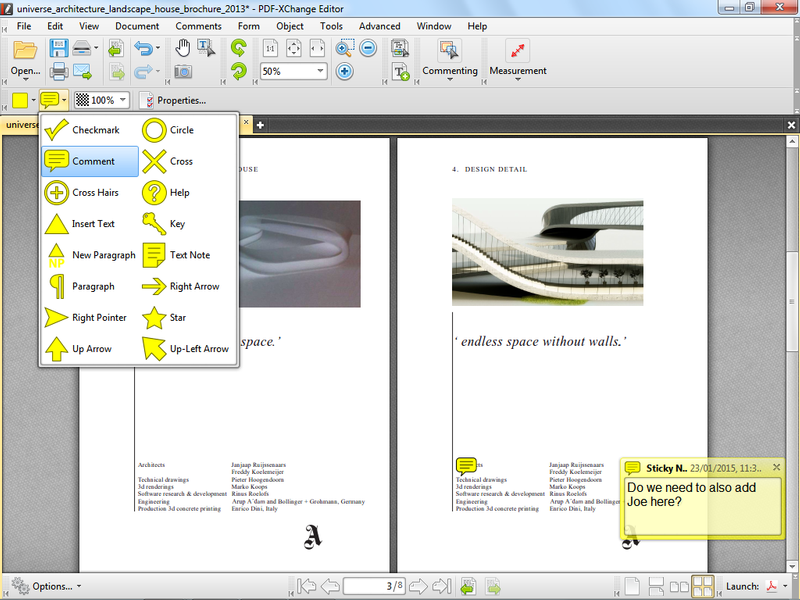 pdf xchange blending pdfs and word documents